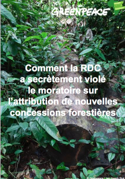 briefer greenpeace RDC violation moratoire