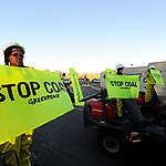 Action at Eskom Megawatt Park in Africa. © Shayne Robinson
