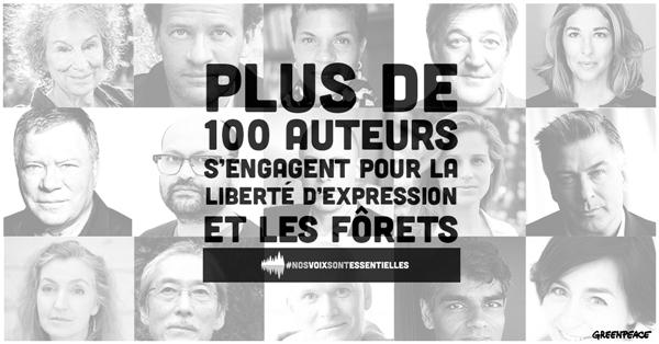 100 auteurs avec Greenpeace