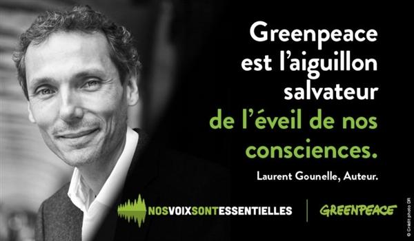 Laurent Gounelle soutient Greenpeace et la liberté d'expression