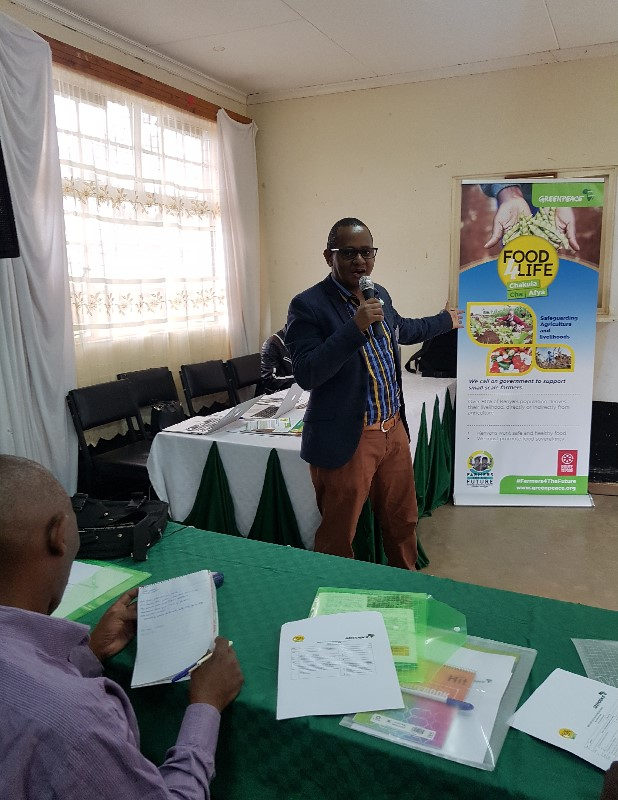 Fred Njehu making introductory remarks during the meeting