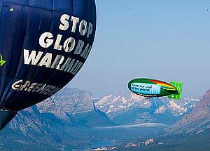 Airship & Balloon at Glacier National Park. © Tim Aubry