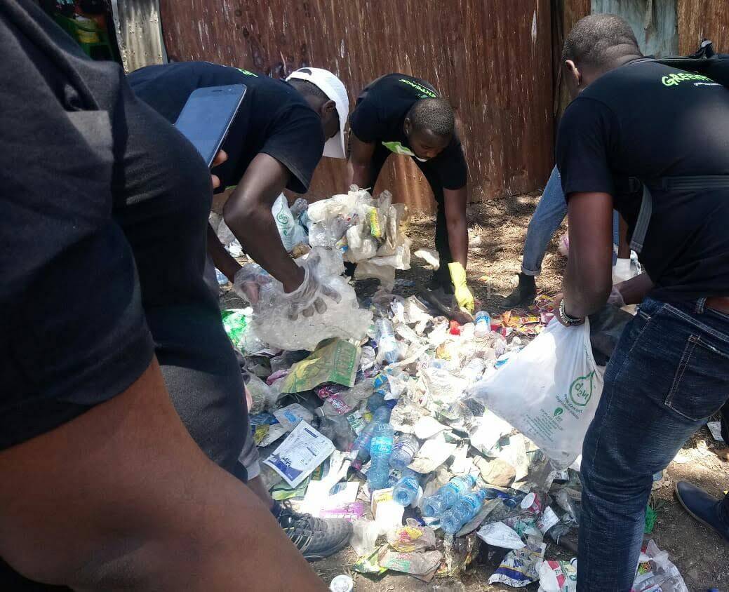 Plastic Clean Up and Brand Audit Activity in Africa.