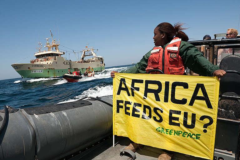 Action against Spanish Trawler. © Christian Åslund