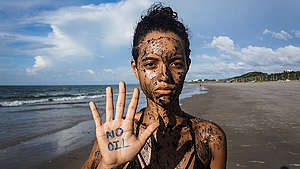 Defend the Amazon Reef Protest (Global Day of Action) in Maranhão, Brazil. © Cynthia Carvalho / Greenpeace