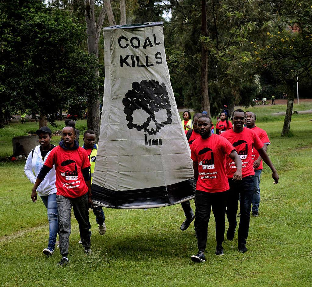 Anti-Coal March in Nairobi. © Paul Basweti / Greenpeace