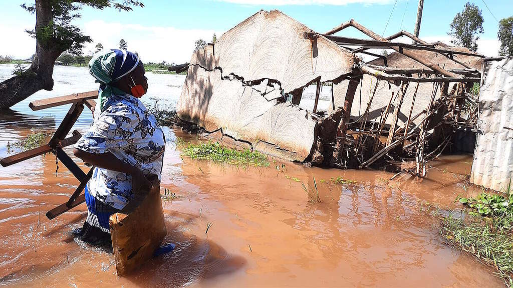 Floods in Migori and Homa Bay Counties in Kenya. © Bernard Ojwang / Greenpeace