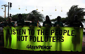 Global Business Day Conference in Durban. © Shayne Robinson / Greenpeace