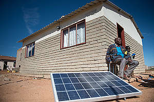 Solar Power Gives Peace of Mind to the Elderly in South Africa. © Mujahid Safodien / Greenpeace