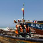 Man sitting on his boat in Senegal