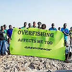 'Fish Fairly' Global Week of Action in Senegal. © Guillaume Bassinet / Greenpeace