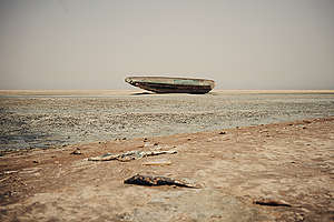 Land Pollution due to Chinese Fish Industry in West Africa. © Liu Yuyang / Greenpeace