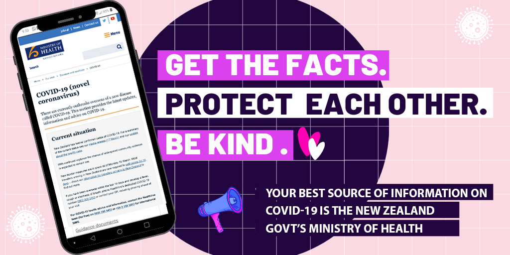 Get the COVID-19 Corona virus facts, look after each other and stay safe!