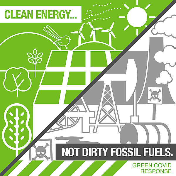 The Covid economic stimulus infrastructure package must build clean energy, not dirty fossil fuels