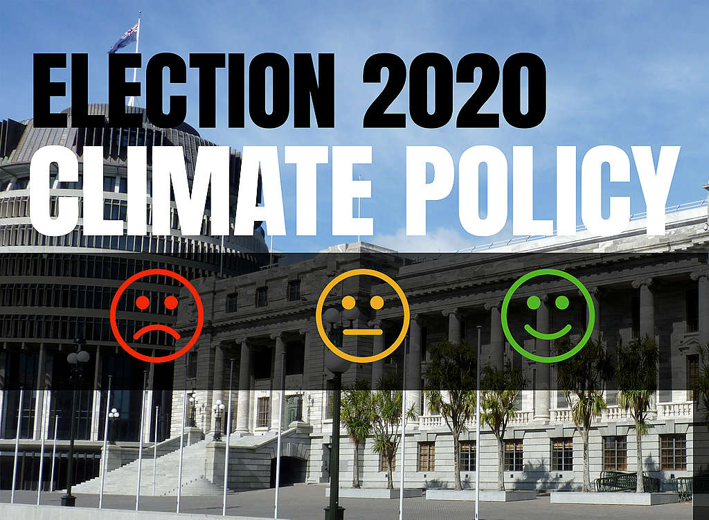 NZ Election 2020 environment and climate policy scorecard by Greenpeace