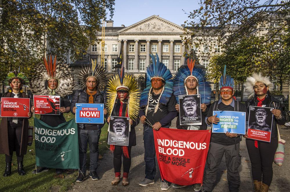 Inheemse leiders uit Brazilië bezoeken België: steun hun actie tegen ontbossing!