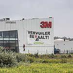 Action au siège de 3M, responsable de la pollution au PFOS à Zwijndrecht