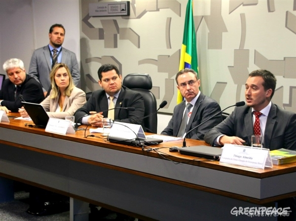 Comissão reuniu setores contra e a favor da exploração de petróleo na Amazônia (Crédito: Alan Azevedo / Greenpeace)