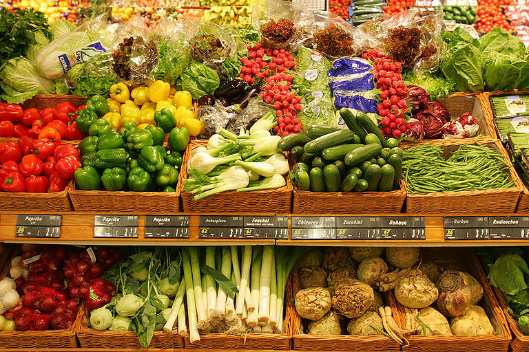 Vegetables in Supermarket in Germany
