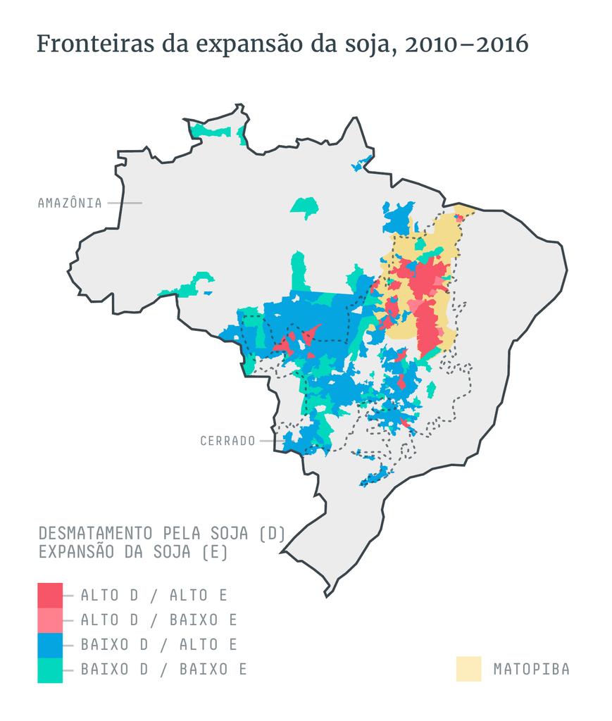 Fronteiras da expansão da soja, 2010-2016
