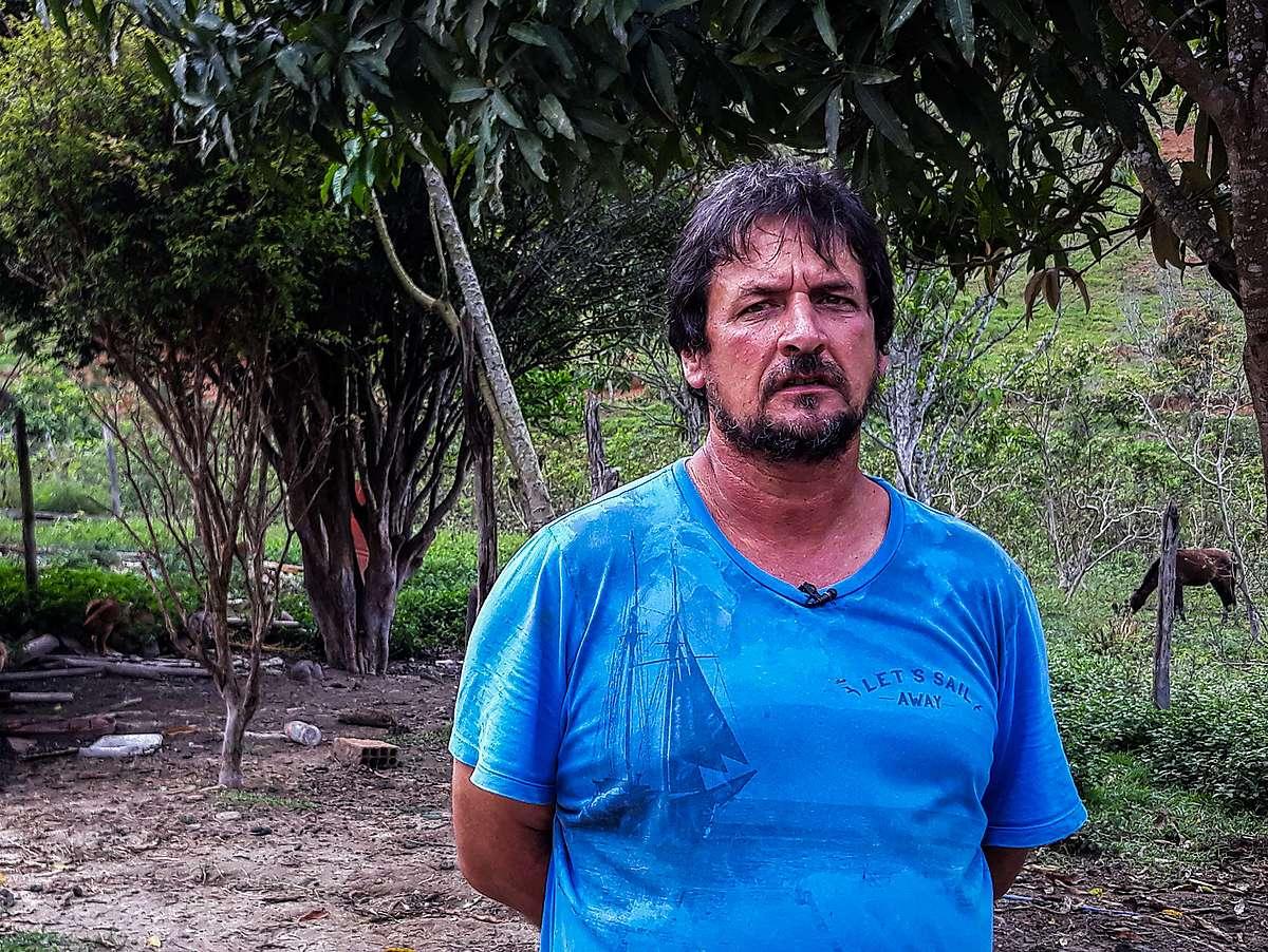 Marino D'Ângelo, produtor rural e membro da Comissão de Atingidos de Paracatu de Cima.