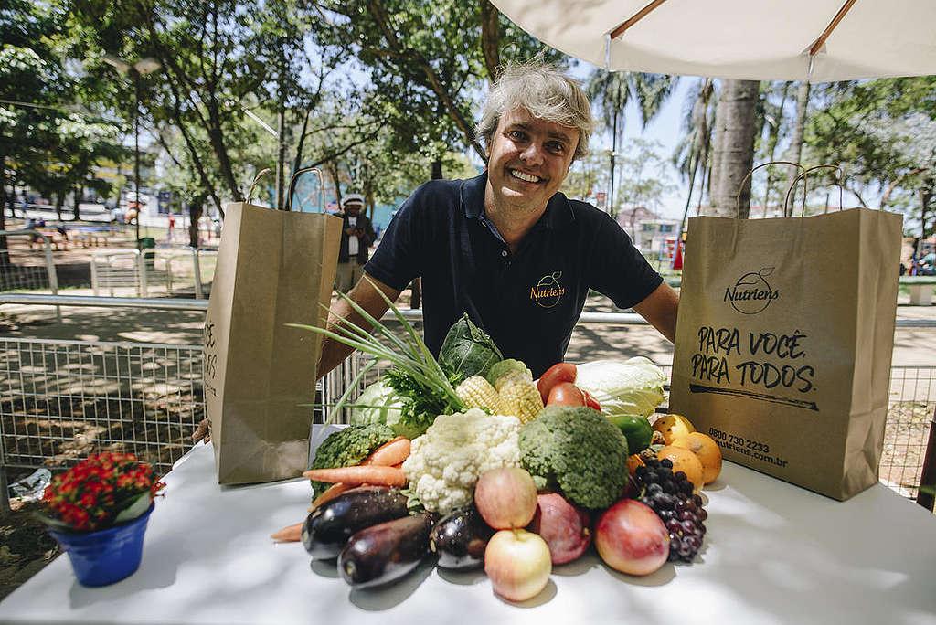Festival de alimentos orgânicos em São Paulo, Brasil. © Christian Braga / Greenpeace