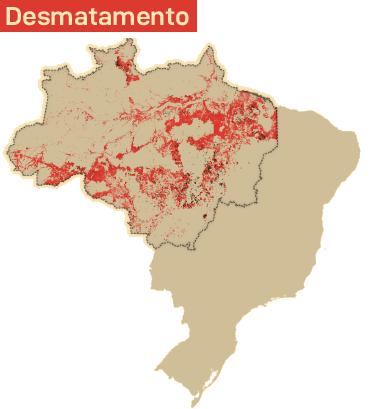 Mapa desmatamento