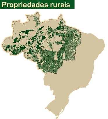 Mapa propriedades rurais