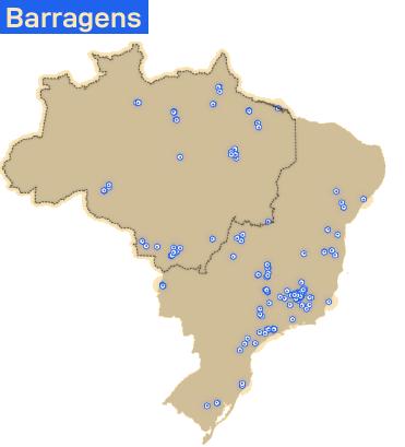 Mapa barragens