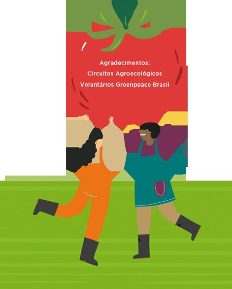 Agradecimentos Circuitos Agroecológicos Voluntários Greenpeace Brasil