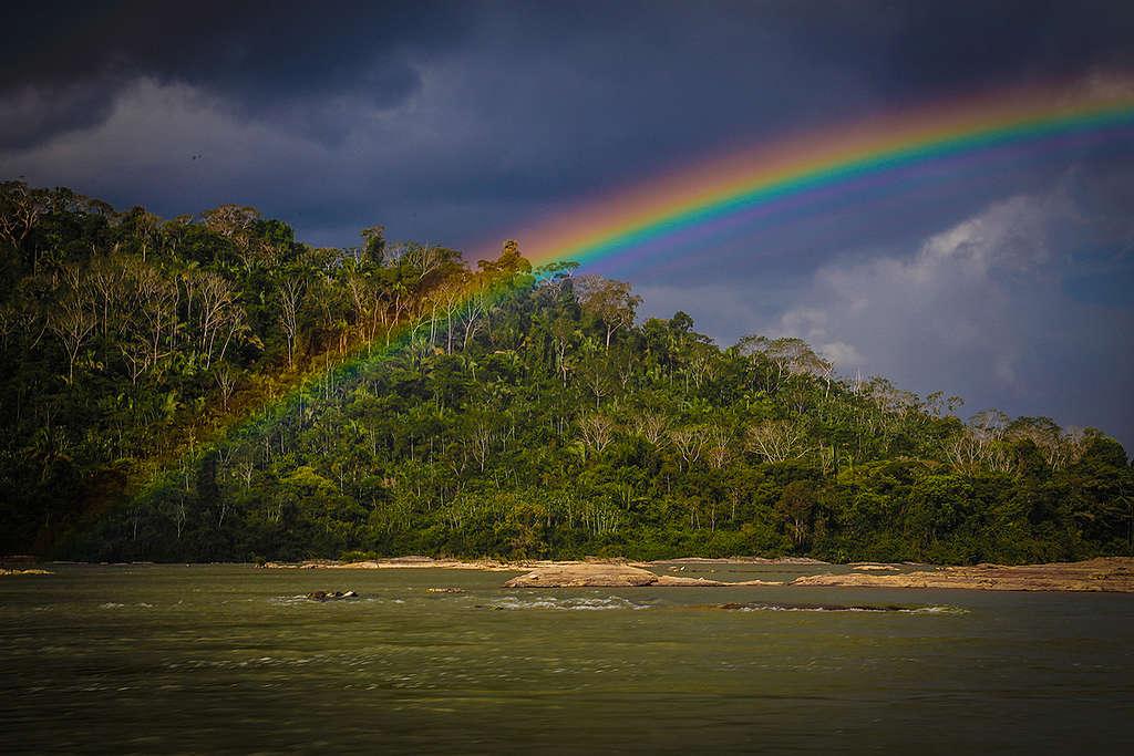 arco-íris na amazonia