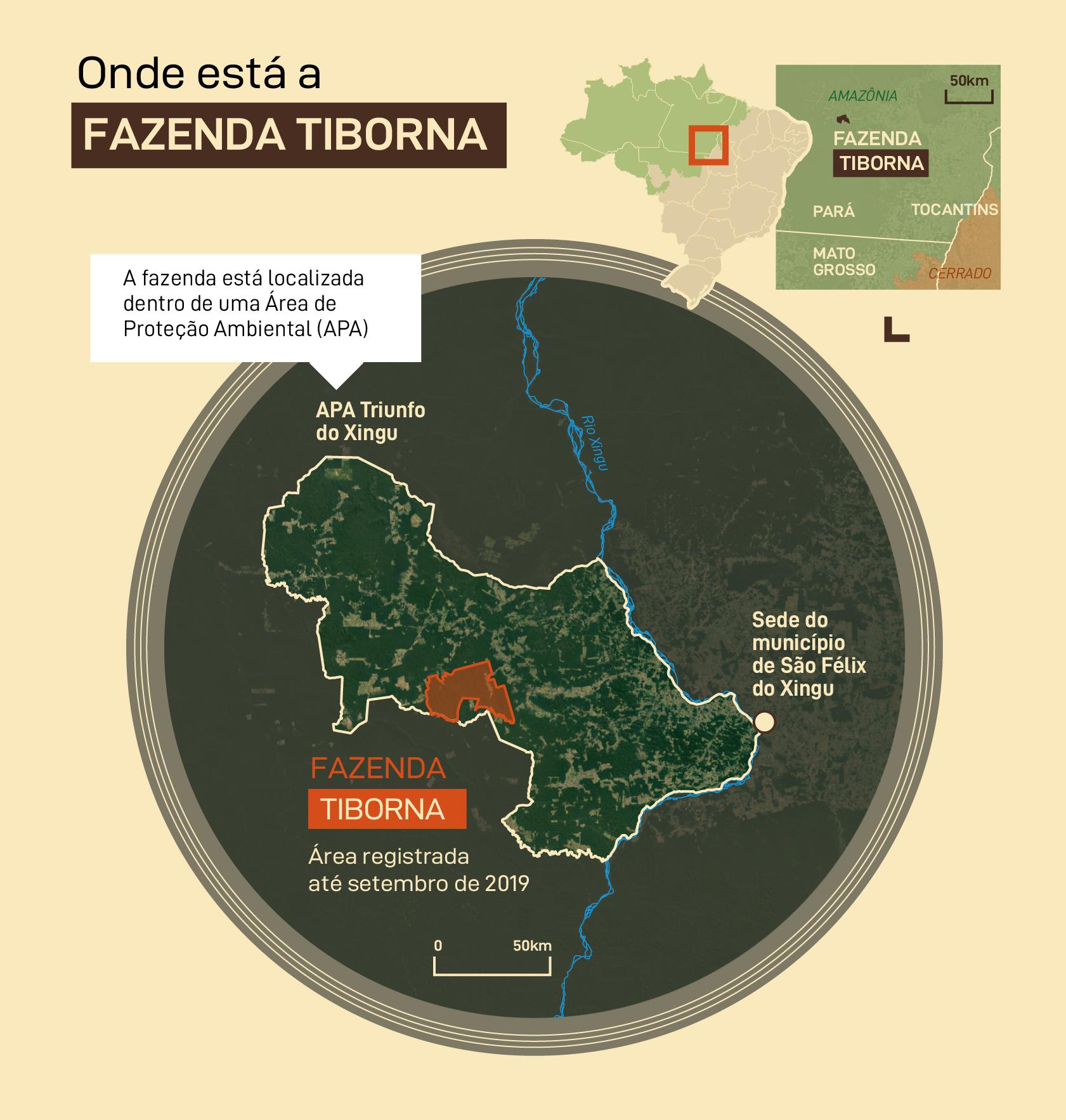 Onde está a Fazenda Tiborna