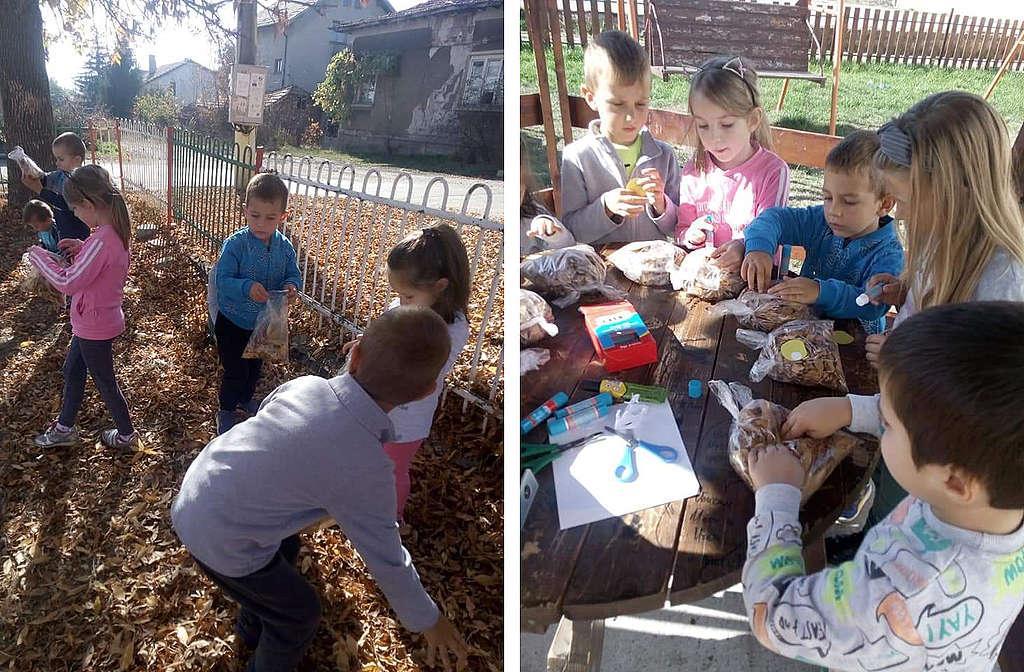 Занимания на открито в двора на детската градина