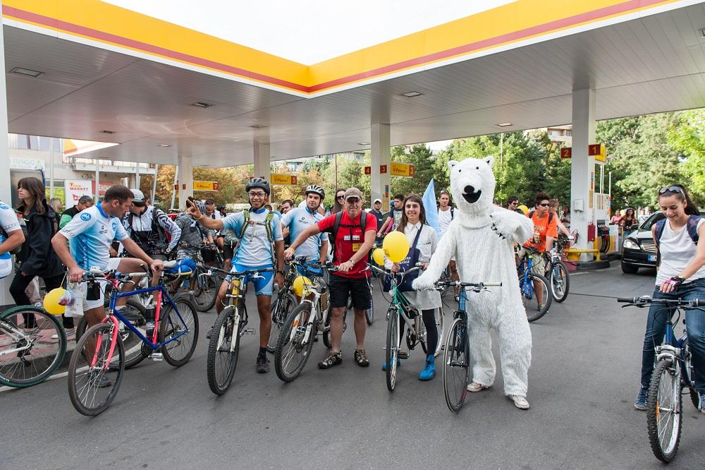 """Велошествие Iceride, проведено от """"Грийнпийс"""" - България в защита на Арктика"""