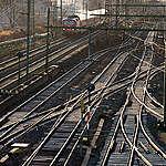 Frankfurt Central Station. © Steve Morgan / Greenpeace