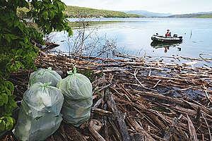 Национална мобилизация за почистване на водоеми - яз. Огоста