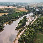 Река Сазлийка при вливането си в река Марица