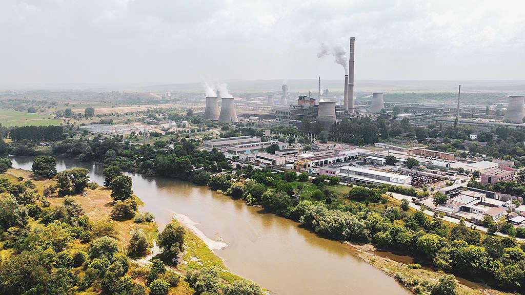Вода или въглища? Река Марица при Димитровград