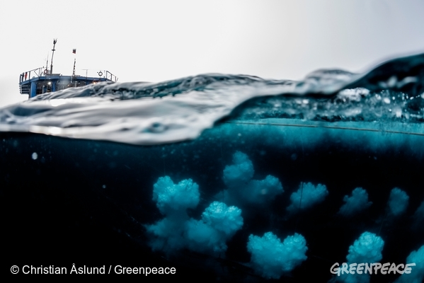 Seismic blasting under water or ship