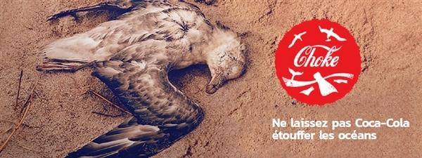 Coca-Cola produit plus de 100 milliards de bouteilles de plastique chaque année. Ne laissez pas Coke étouffer nos océans!