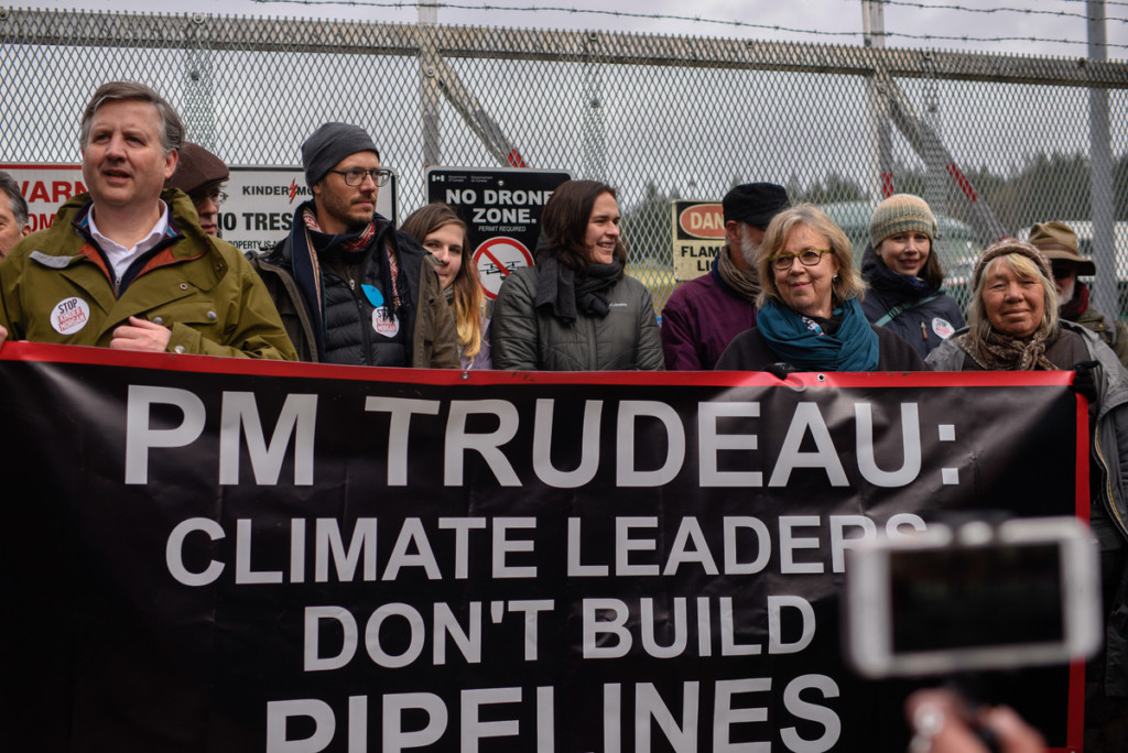 Land Defenders Protest at Kinder Morgan Tank Farm in British Columbia