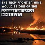 This morning the Teck Frontier tar sands mine hearing began in Fort McMurray.