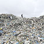 UK Plastic Waste near Wespack Recycling Factory, Malaysia.