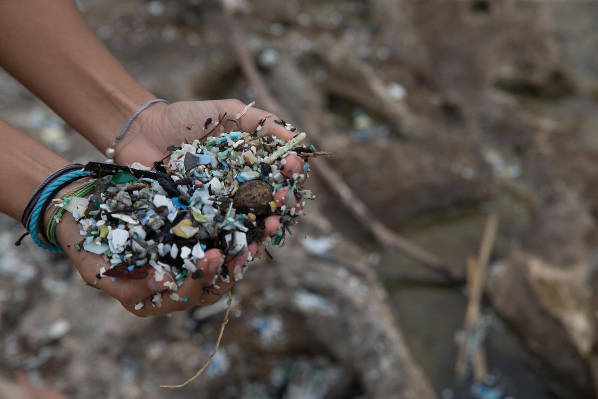 Plastics Cleanup at National Wildlife Refuge in Hawaii. © Marco Garcia / Greenpeace