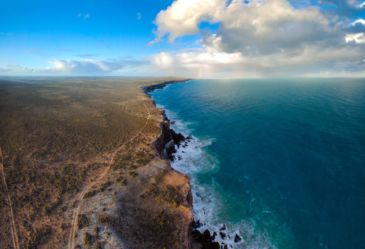 Aerial View of the Great Australian Bight. © Greenpeace / Jaimen Hudson