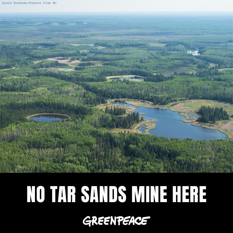 No tar sands mine here