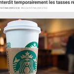 Starbucks devrait investir dans un avenir sans plastique plutôt que d'interdire les tasses réutilisables
