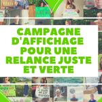 campagne d'affichage pour une relance juste et verte