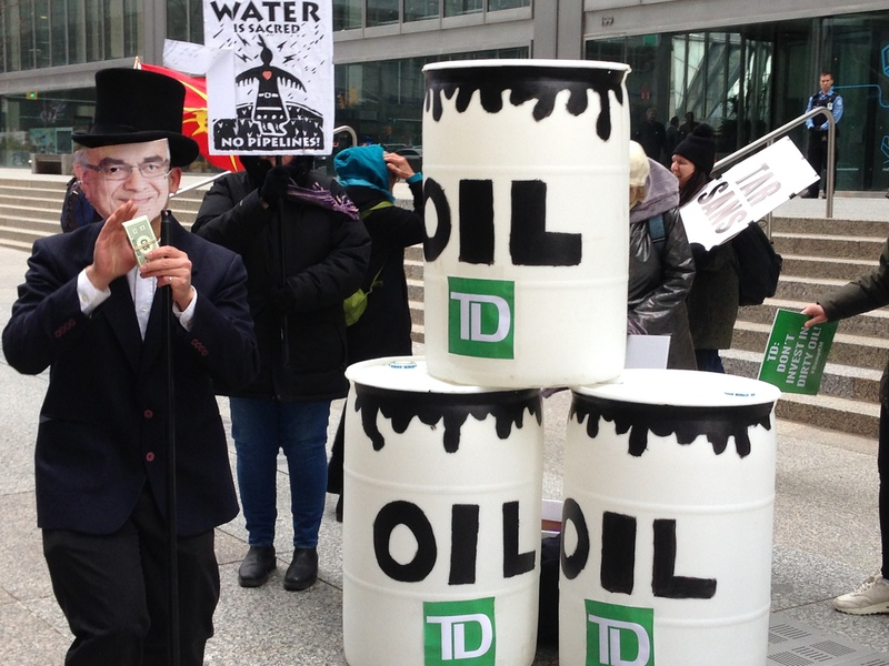 DumpKM Protest against TD Bank and Kinder Morgan Pipeline in Toronto