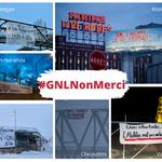 Des bannières fleurissent à travers la province pour dire Non à GNL Québec*